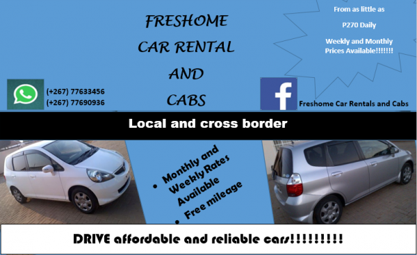 freshomes trendy freshome car rental and cabs gaborone